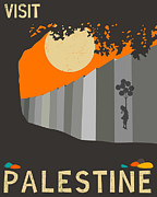 Palestine Framed Prints - Palestine Travel Poster Framed Print by Jazzberry Blue