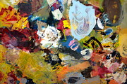 Textural Paintings - Palette Abstract by Michelle Calkins