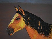 Side View Painting Framed Prints - Palimino Horse Framed Print by Shirl Theis