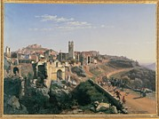 Luminism Prints - Palizzi Nicola, The Melfi Earthquake Print by Everett