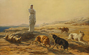 Famous Artists - Pallas Athena and the Herdsmans Dogs by Briton Riviere