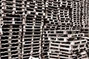 Stack Prints - Pallets  Print by Olivier Le Queinec