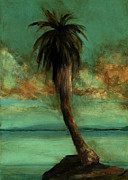 Picturesque Painting Prints - Palm 2 Print by Mickey Mayfield