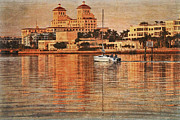 Florida Rivers Photo Prints - Palm Beach at Golden Hour Print by Debra and Dave Vanderlaan