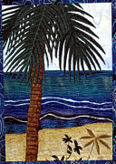 Beach Tapestries - Textiles Posters - Palm Beach Poster by Jean Baardsen