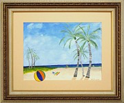Original  By Artist Paintings - Palm Beach by Ron Davidson