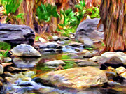 Canyons Painting Prints - Palm Canyon Trail Print by Michael Pickett