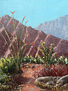 Pallet Knife Painting Originals - Palm Desert Beauty by Jeff Owen