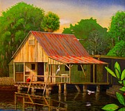Palm Island Crab House  Print by Buzz Coe