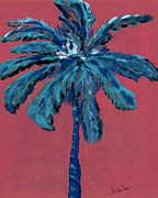 Palm On Pink  Print by Oscar Penalber