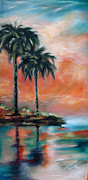 Linda Olsen - Palm Refection Sunset