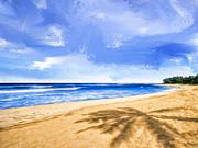 Dominic Piperata - Palm Shadow at Sunset Beach