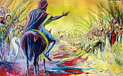Palm Sunday Paintings - Palm Sunday by Evans Yegon