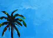 Original Art On Prints Painting Originals - Palm Tree in Miami Beach by Patricia Awapara