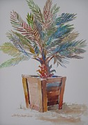Outdoor Still Life Paintings - Palm Tree by John  Svenson