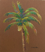 Linda Krukar Metal Prints - Palm Tree Metal Print by Linda Krukar