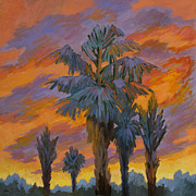 Canyons Paintings - Palm Trees Can Glow by Diane McClary