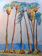 Realist Prints Framed Prints - Palm Trees Framed Print by Esther Newman-Cohen