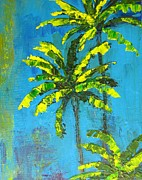 Handmade Paintings - Palm Trees by Patricia Awapara