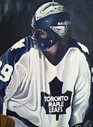 Hockey Goalie Paintings - Palmateer by John Dykes