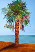 Golds Posters - Palms by the Sea Poster by Judy Melcher