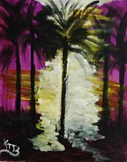 Marie Bulger - Palms in Purple