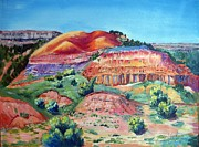 Canyons Paintings - Palo Duro Canyon by Judy Hopkins