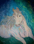 Filly Paintings - Palomino Thunder by Ella Kaye