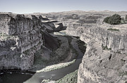 Floods Photo Posters - Palouse River Canyon - Washington State Poster by Daniel Hagerman