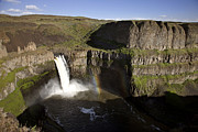 Basalt Posters - Palouse Waterfall Washington Poster by Mark Duffy