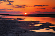 Nature Island Prints - Pamlico Sunset Print by Steven Ainsworth