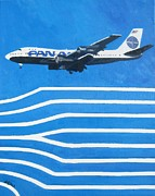 Pan Am Framed Prints - Pan Am Clipper Framed Print by Lesley Giles