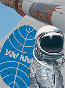 Astronaut Tapestries Textiles - Pan Am by Scott Listfield