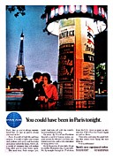 American Airways Prints - Pan Am to Paris Print by Benjamin Yeager