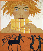 Pan Pipes Posters - Pan Piper Poster by Georges Barbier