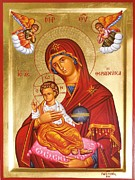 Panagia - Virgin Mary Print by Theodoros Patrinos