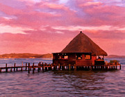 Tropical Sunset Prints - Panama Sunrise Print by Michael Pickett