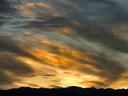 Storm Prints Framed Prints - Panamint Sunset Framed Print by Joe Schofield