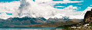 Tibet Prints - Panarama Mountain lake in Tibet Print by Raimond Klavins
