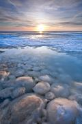 Featured Prints - Pancake Ice And Ball Ice On Lake Print by Ken Gillespie