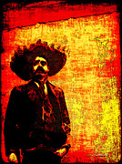 \\\\joan Minchak\\\\ Framed Prints - Pancho Villa Framed Print by Joan  Minchak