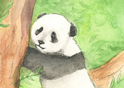 Panda Mixed Media - Panda Cub by Erica Vojnich