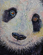 Luna Painting Posters - Panda Poster by Michael Creese