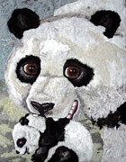 Panda Mixed Media - Panda Mom-ium by Heidi Hooper