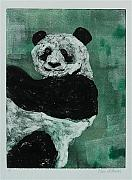 Printmaking Mixed Media - Panda - Monium by Cori Solomon