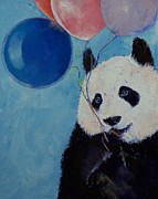Giant Panda Posters - Panda Party Poster by Michael Creese