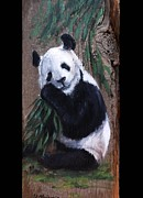 Endangered Species Poster Framed Prints - Panda Framed Print by Viktoria K Majestic