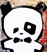 Multimedia Mixed Media Prints - Panda Print by Voodo Fe Culture