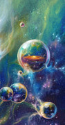 Metaphysical Realism Painting Prints - Pangaea cropped Print by Kd Neeley