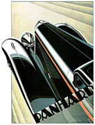 Advertisement Digital Art Prints - Panhard Car Advertisement Print by World Art Prints And Designs